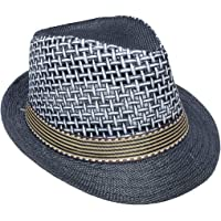 JK Home Panamá Fedora Sombrero de paja Deportes al aire libre Gangster Trilby Jazz Manhattan Cosplay Travel Holiday Cap
