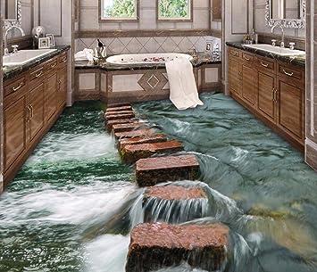 Buy Bernton New Floor 3d Modern Art River Stones Bathroom