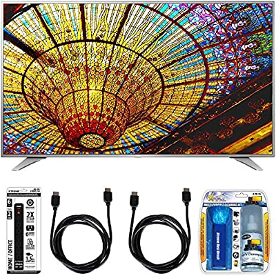 LG 55UH6550 55-Inch 4K UHD Smart TV w/ webOS 3.0 Accessory Bundle includes Television, Screen Cleaning Kit, Power Strip with Dual USB Ports and 2 HDMI Cables