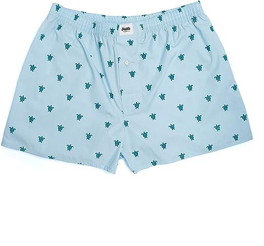 Brava Fabrics | Calzoncillos Azules Boxer para Hombre | Calzoncillos Boxer Hombre con Estampado de Tortugas | Ropa Interior Hombre | 100% Algodón Orgánico | Calzoncillo Turtle with Love: Amazon.es: Ropa y accesorios