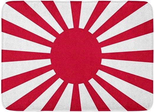 Alfombras de baño Alfombras de baño Alfombra de Puerta Exterior/Interior Rojo Japón Bandera Japonesa Ejército Imperial Levantando Sol Símbolo Tokio Amanecer Alfombra de baño Decoración Alfombra de b: Amazon.es: Hogar