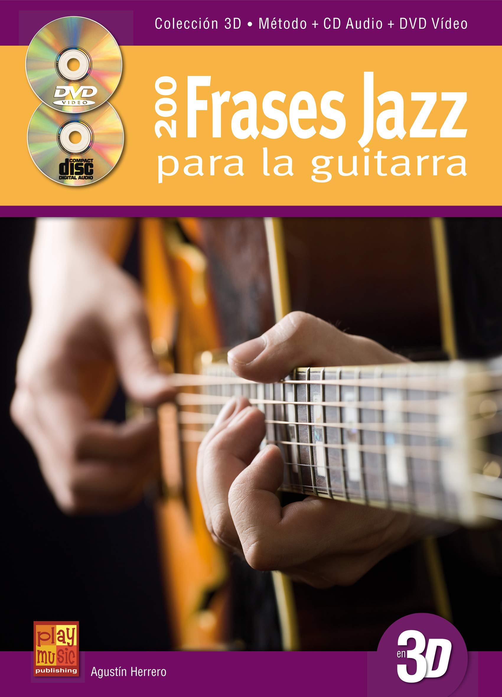 200 frases jazz para la guitarra en 3D - 1 Libro + 1 CD + 1 DVD ...