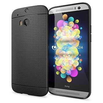 NALIA Funda Carcasa Compatible con HTC M8 M8S, Protectora Movil Silicona Fina Bumper Estuche con Puntos, Goma Cubierta Telefono Cobertura Delgado Dot ...