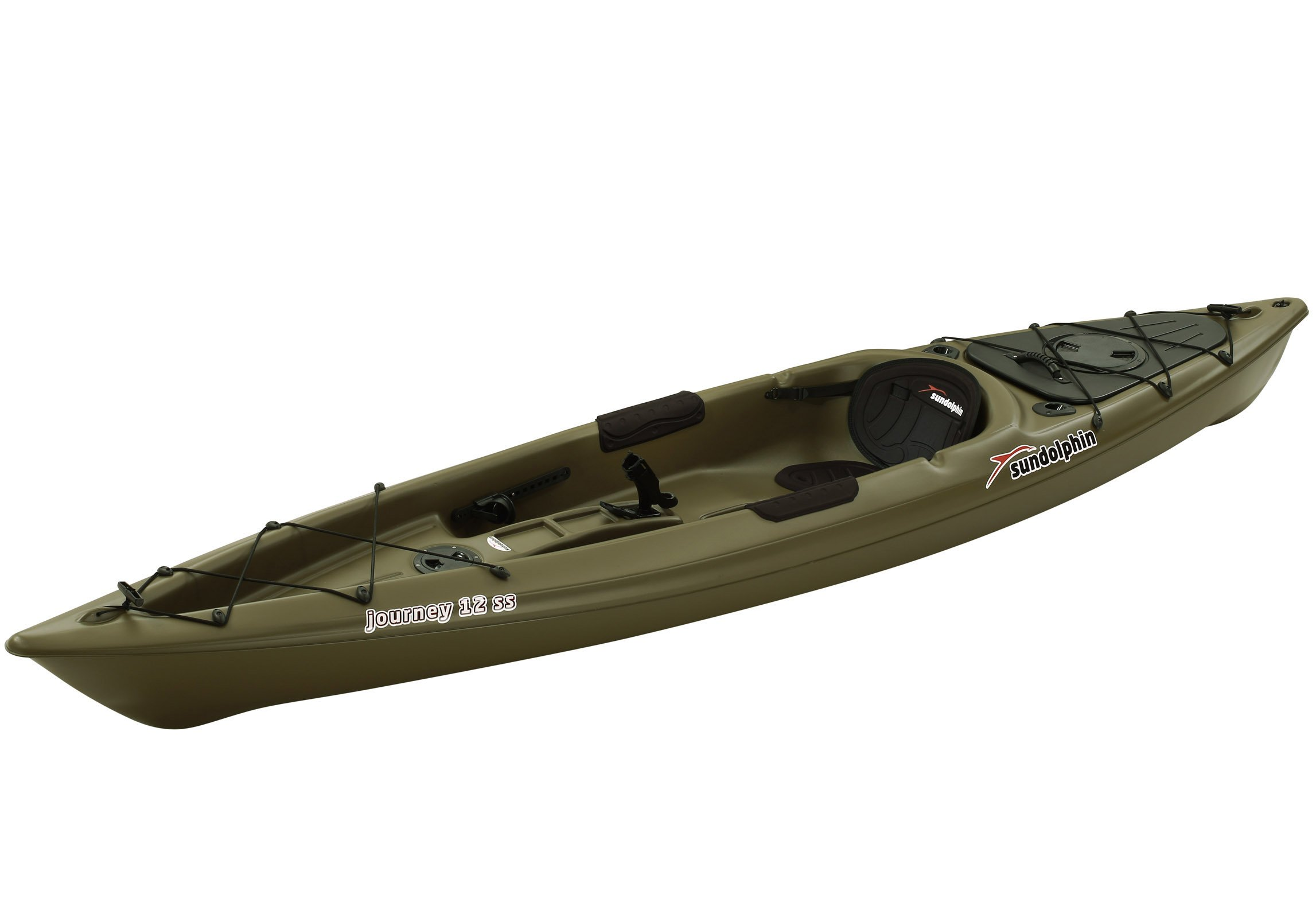 SUNDOLPHIN Sun Dolphin Journey Sit-on-top Fishing Kayak (Olive, 12-Feet) by SUNDOLPHIN