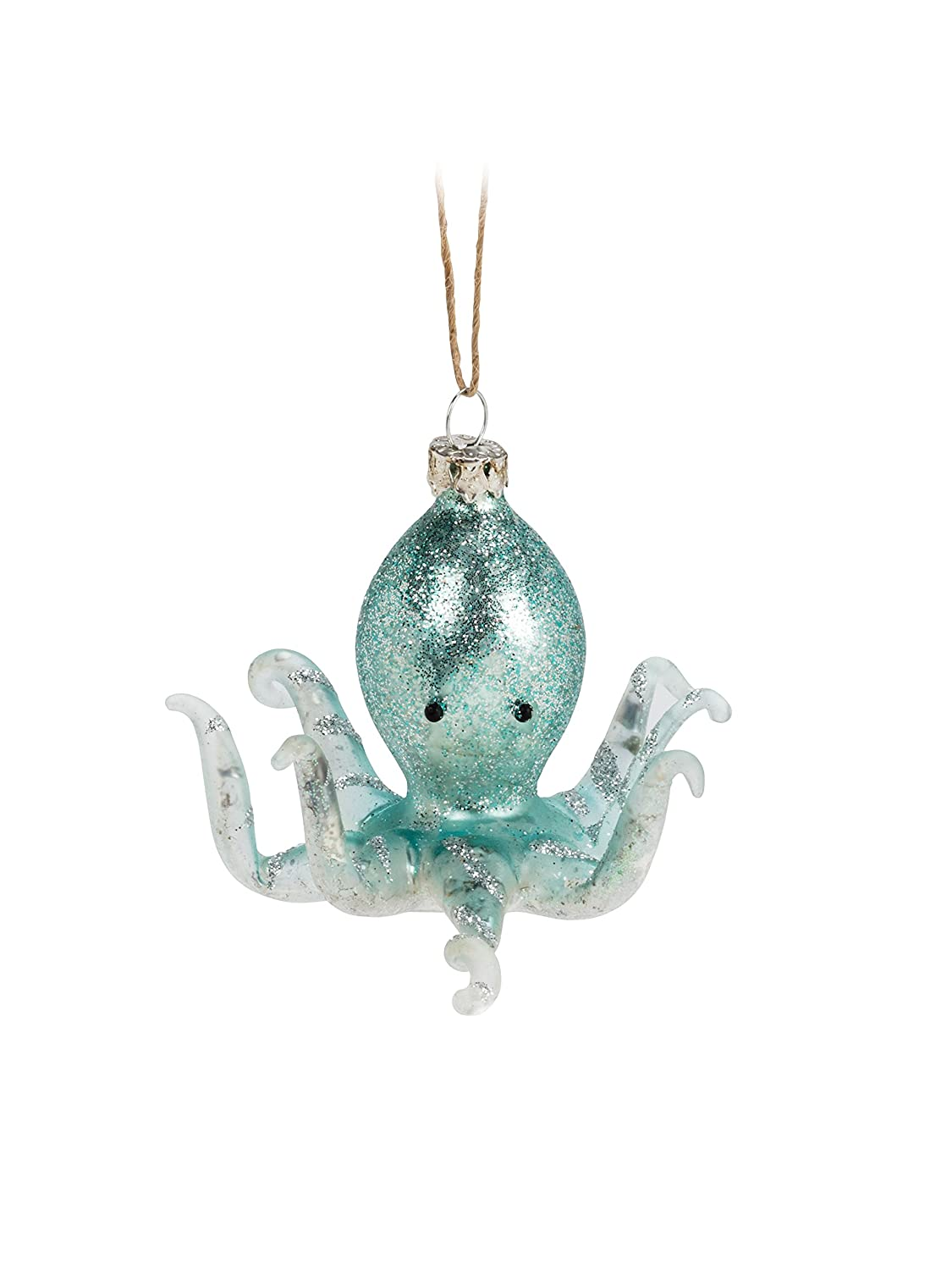 Abbott Collection 27-CLASSIC//0422 Turquoise Octopus Ornament-3.5 W