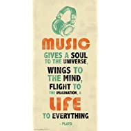 Plato Music Inspirational Motivational Quote Decorative Print (Unframed 12x24 Poster)