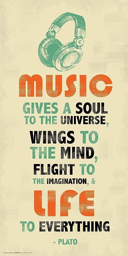 Culturenik Plato Music Inspirational Motivational Quote Decorative Print  (Unframed 12x24 Poster)