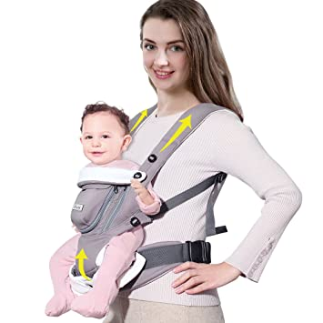 SUNVENO Mochila portabebés ergonómica Transpirable Delantero Infant Sling 0-12 Meses: Amazon.es: Bebé