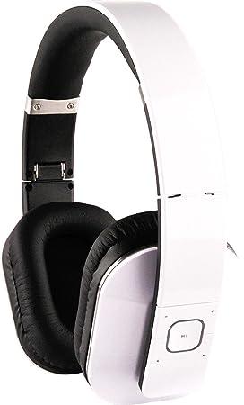 Schwaiger Deluxe-Edition - Auriculares de diadema con Bluetooth (con botones de control), color blanco: Amazon.es: Electrónica