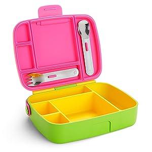 Munchkin Bento Box Toddler Lunch Box, Yellow