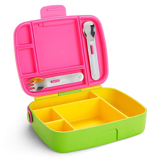 Munchkin Bento Box Toddler Lunch Box, Yellow