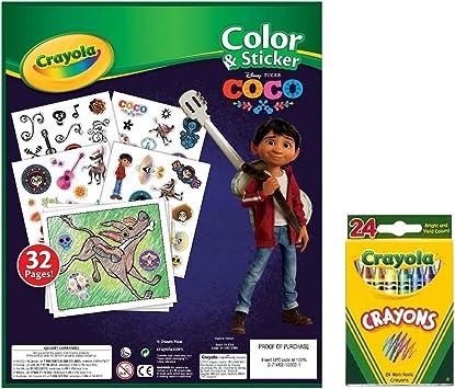 Disney Coco Pegatinas y Juego de Actividades para Colorear: Amazon ...