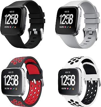 YPSNH Compatible con Correa Fitbit Versa Deportiva de Repuesto de Doble Color de Silicona Suave para Fitbit Versa/Fitbit Versa 2: Amazon.es: Deportes y aire libre
