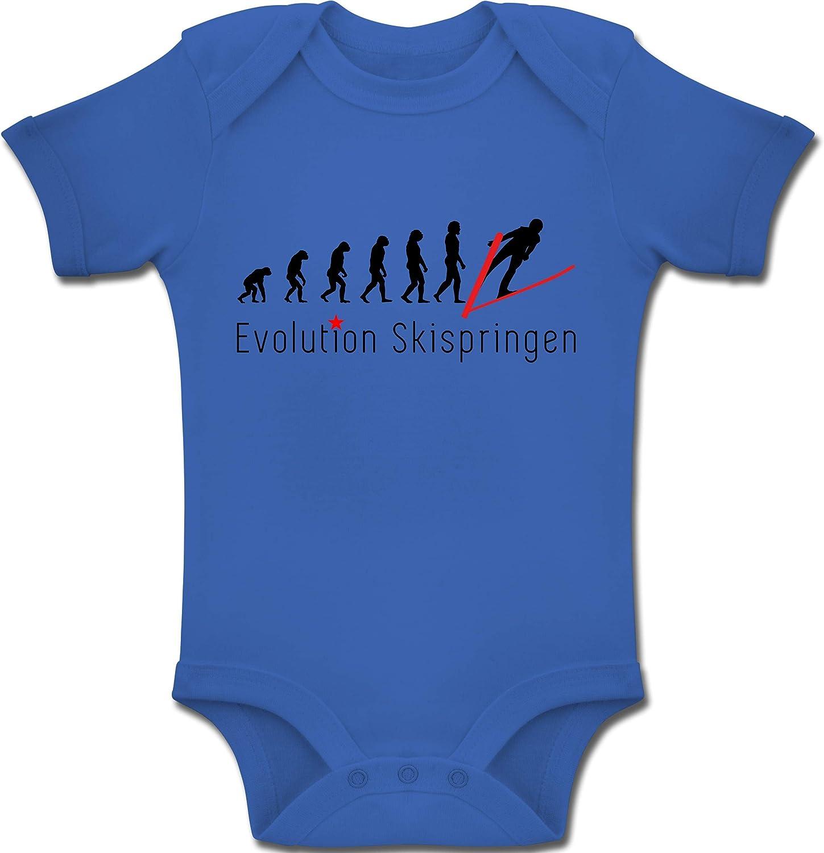 Skispringen Evolution Evolution Baby Baby Body Kurzarm f/ür Jungen und M/ädchen