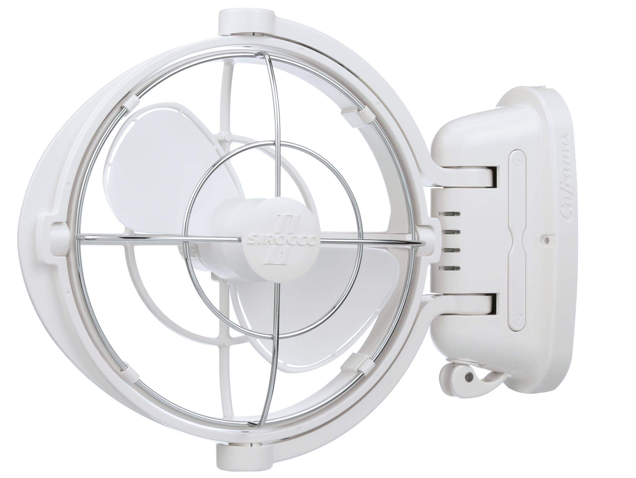 Caframo Sirocco II. Mounted Fan. 360 Airflow. Ultra Quiet, 12/24V Compatible. White. by Caframo