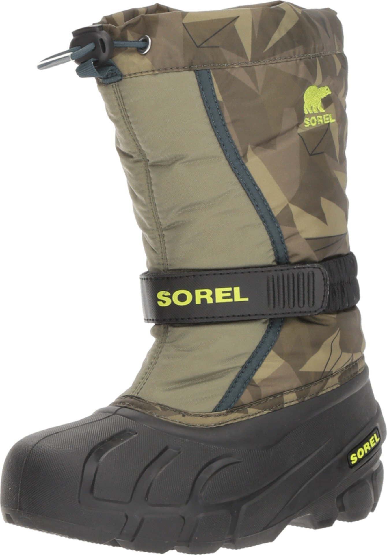 SOREL Youth Flurry Print Snow Boot (4 M US Big Kid)