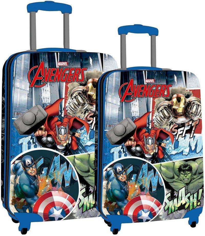Marvel Avengers All Avengers Kabinenkoffer Blau 37x55x20 cms Hartschalen ABS Kombinationsschloss 34L 2,6Kgs 4 Doppelr/äder Handgep/äck