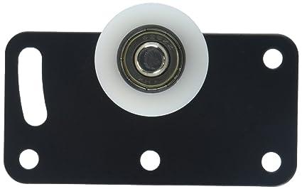 Rodillos para puerta corredera de Uxcell, a15121800ux0429, 30 mm, placa rectangular con rueda