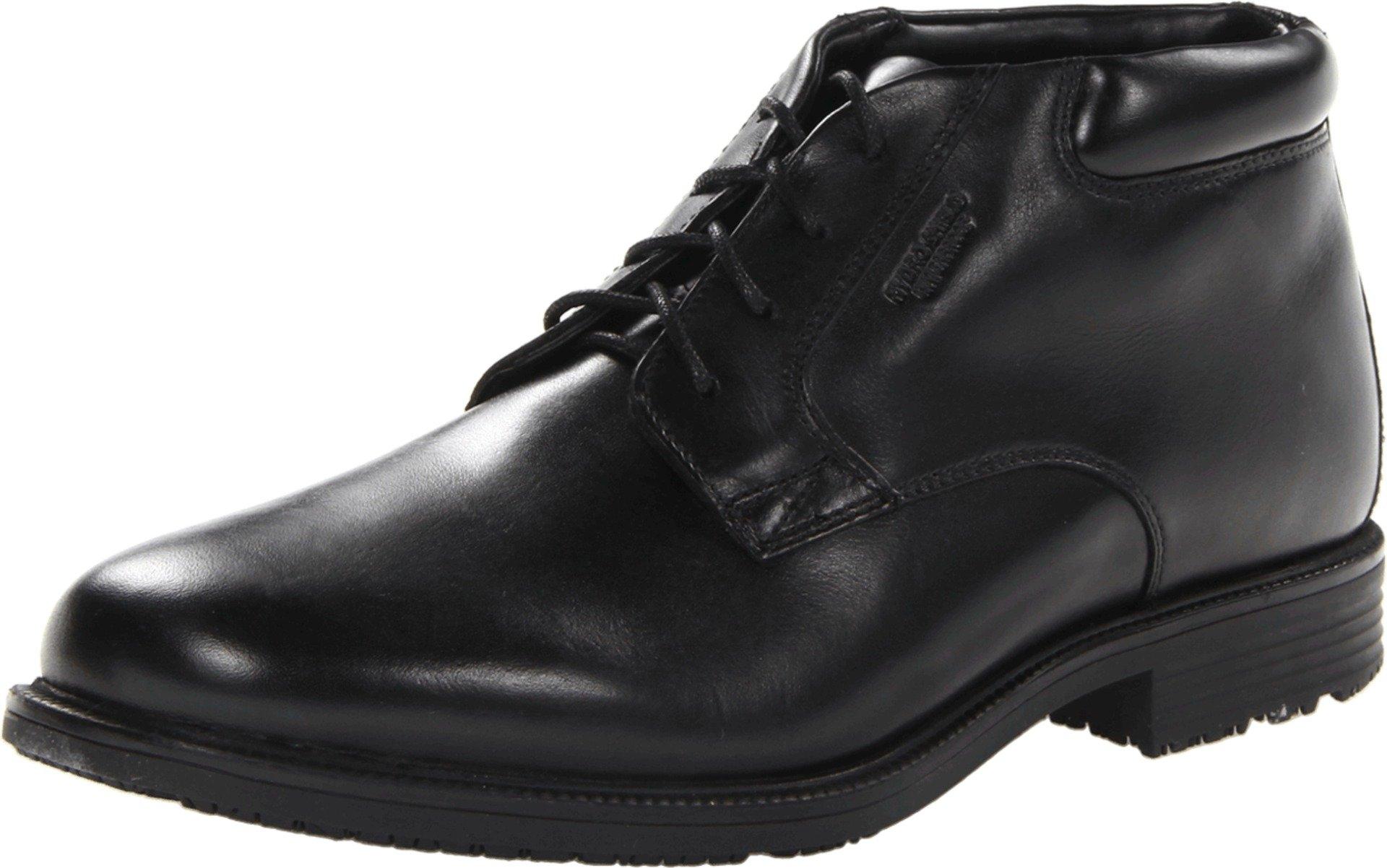 Rockport Men's Essential Details Waterproof Dress Chukka Boot,Black,10.5 W US by Rockport