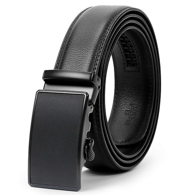 Amazon.com: WERFORU - Cinturón de vestir con trinquete de ...