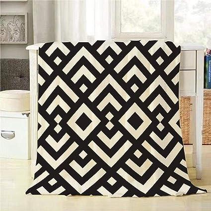 Fabulous Amazon Com Mugod Abstract Geometric Throw Blanket Black And Machost Co Dining Chair Design Ideas Machostcouk