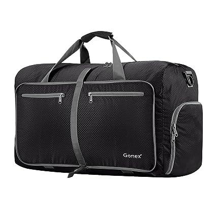 Amazon.com  Gonex 60L Foldable Travel Duffel Bag Water   Tear Resistant 117c4c3bec787
