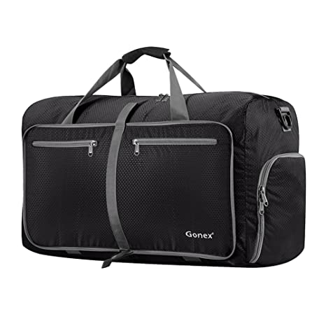 2e756fe66a Amazon.com  Gonex 60L Foldable Travel Duffel Bag Water   Tear ...