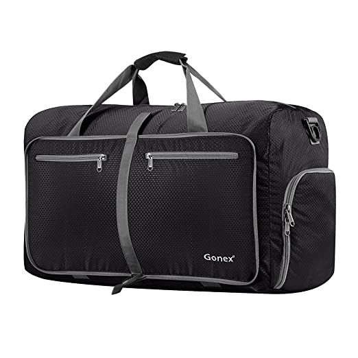 196958a33f4866 Amazon.com  Gonex 60L Foldable Travel Duffel Bag Water   Tear Resistant