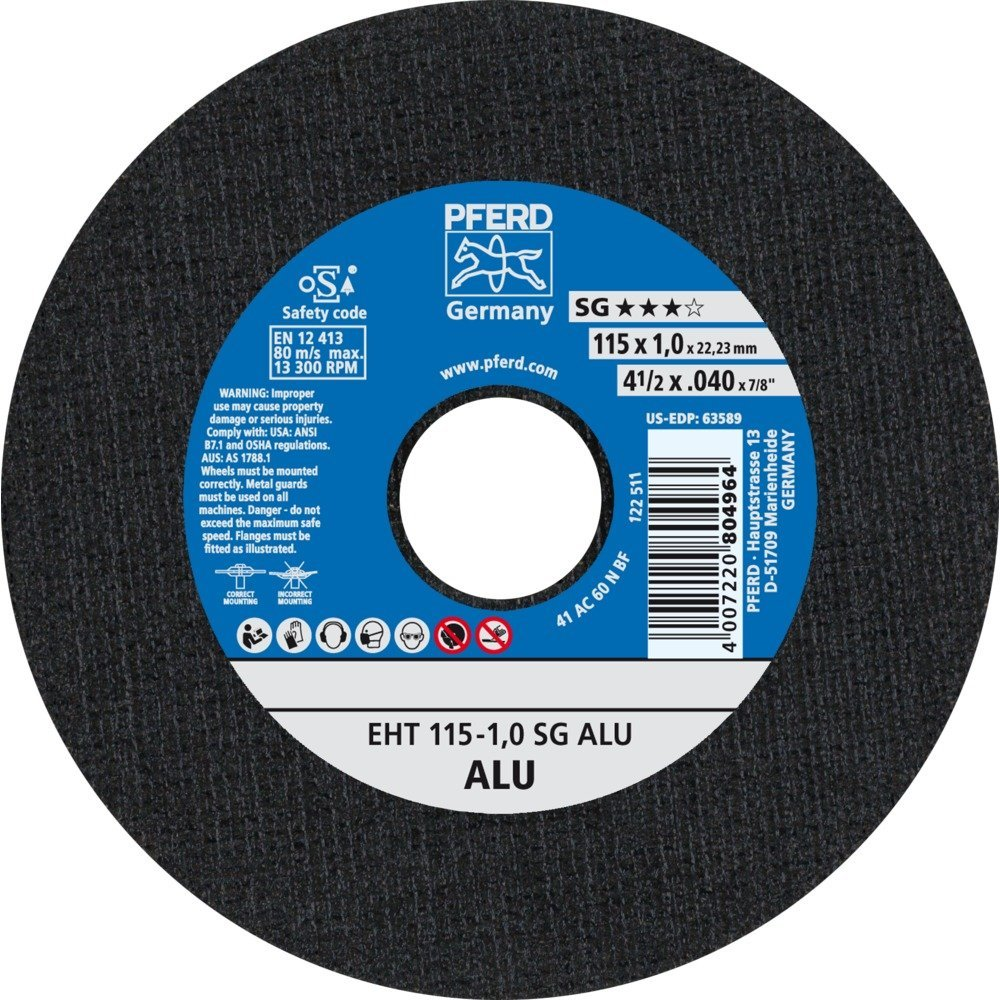 Pferd –  Disque Coupe EH 125 –  3, 2 A46 P PSF 2A46P PSF EH125