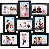Shree Shyam Crafts Multi Photo Wall Hanging Photo Frame,Black