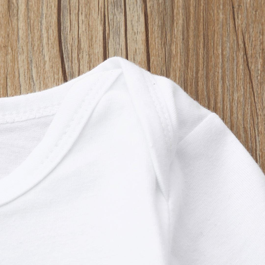 Lanhui 3Pcs Sunny Boy Letter Camouflage Print Tops+Pants+Hat Outfits Set Clothes