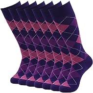 mens fashion socks,SUTTOS Mens Casual Cotton Blend Fashion Design Mid Calf Fun Dress Crew