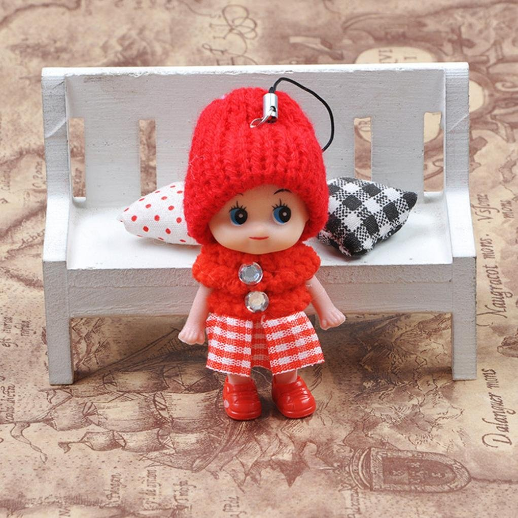 5Pcs Kids Toys Soft Interactive Baby Dolls Toy Mini Doll For Girls Cute Gift CR
