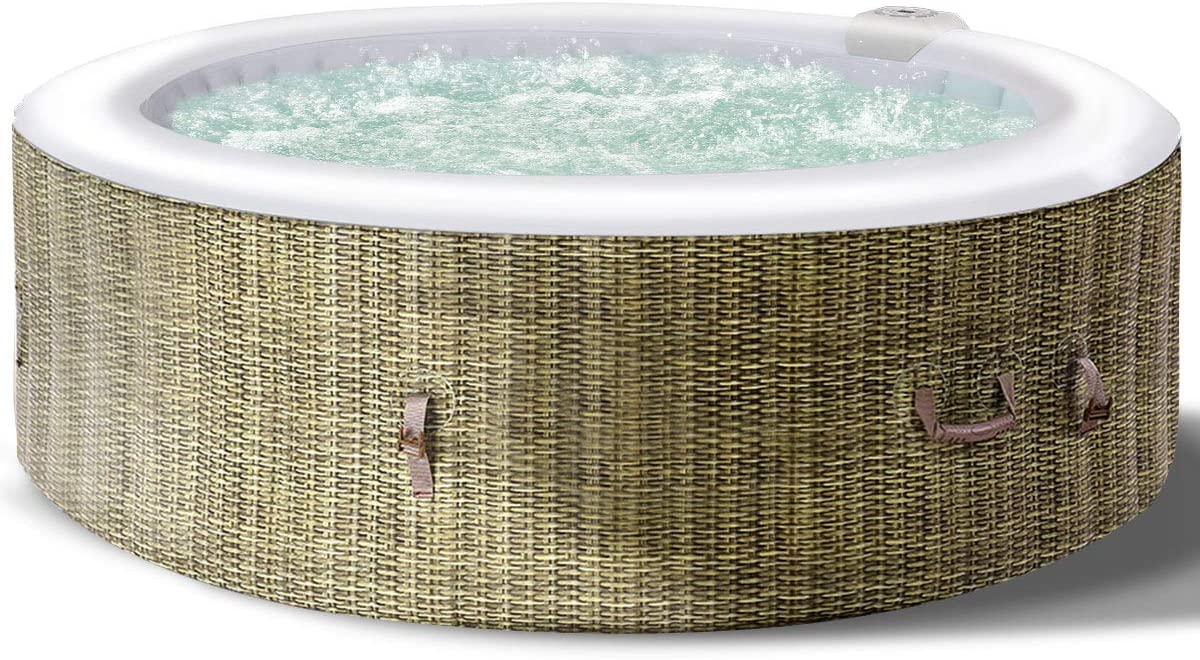 Amazon.com: GYMAX Spa, jacuzzi inflable portátil para 6 ...