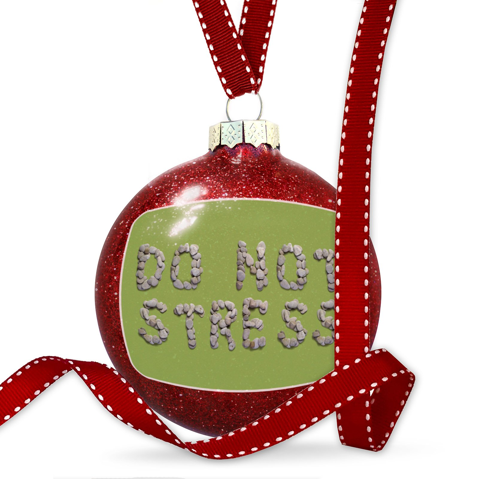Christmas Decoration Do Not Stress Spa Stones Rocks Ornament