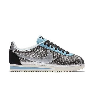 separation shoes 8e9ae 894a0 Nike Women's Classic Cortez Leather Prem Metallic Silver 833657-004 (Size:  8), Silver, 5.5 B(M) UK/39 B(M) EU: Amazon.co.uk: Shoes & Bags