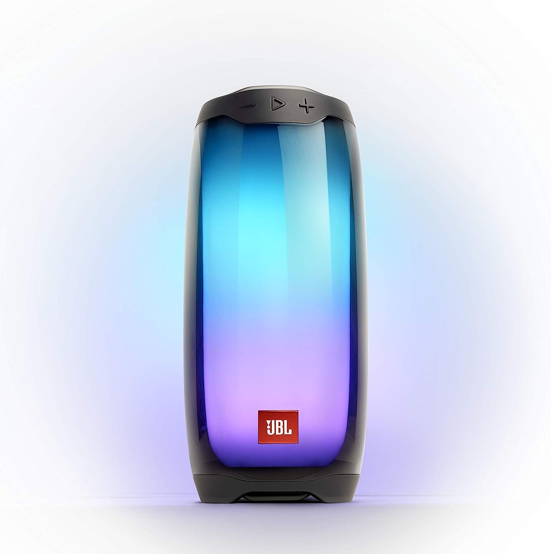 Amazon Com Jbl Pulse 4 Waterproof Portable Bluetooth Speaker With Light Show Black Electronics