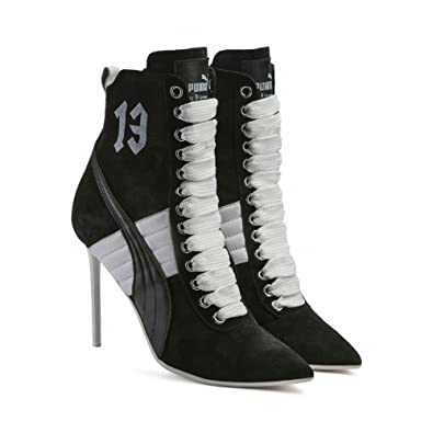 4b7d9276fb47 Puma- x Rihanna Fenty Women Lace Up Suede Stiletto High Heel Fashion Ankle  Boot Fashion