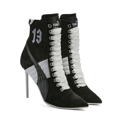 Puma- x Rihanna Fenty Women Lace Up Suede Stiletto High Heel Fashion Ankle  Boot Fashion 5ad137137