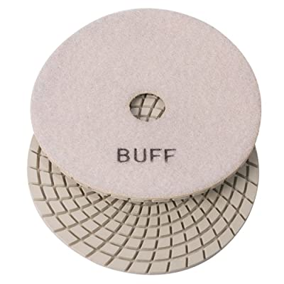 "E5WBUFF Specialty Diamond 5"" White Buffing Polishing Pad,: Home Improvement"