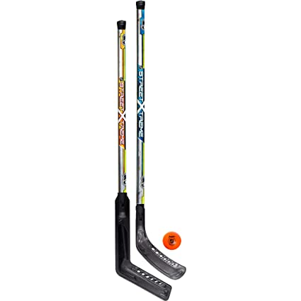 5498686586c Amazon.com   Franklin Sports Street Hockey Set - NHL - Goalie and Player  Sticks and Ball   Sports   Outdoors