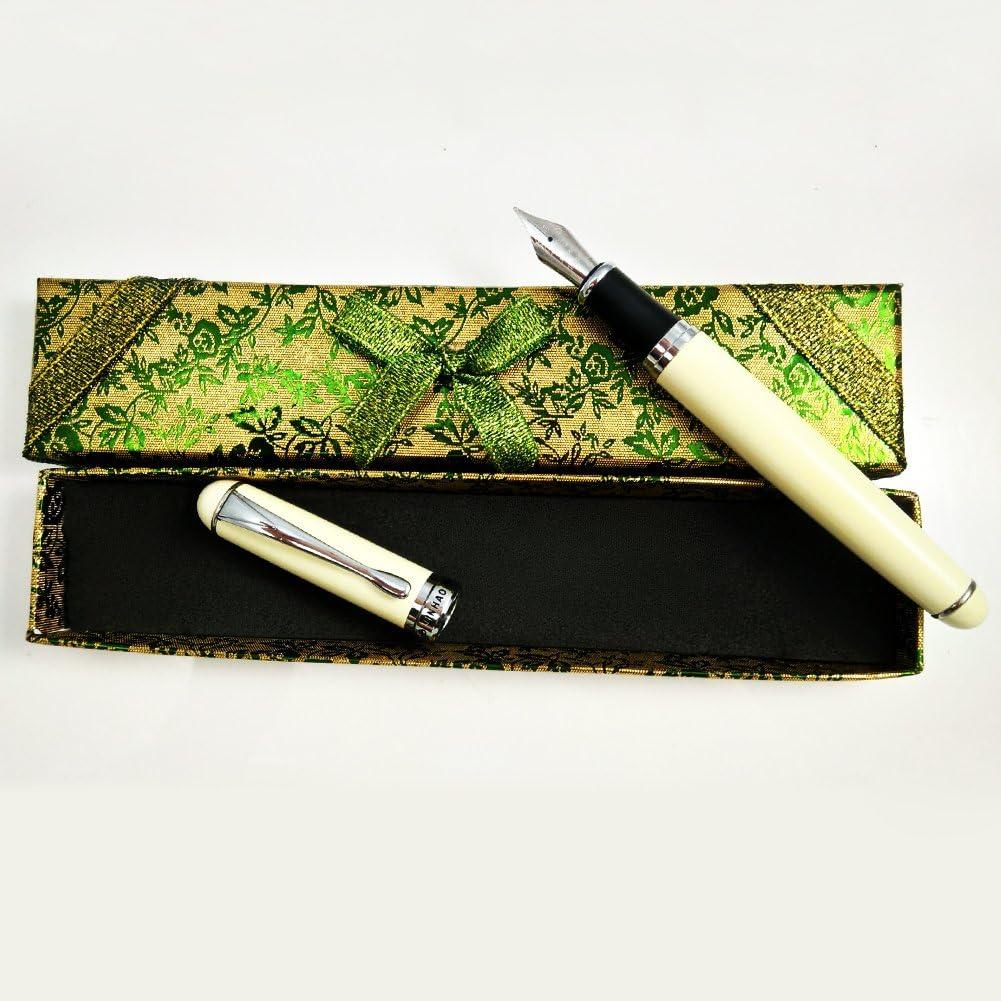 Jinhao X750 Fountain Pen Smooth Writing Silver Trim M Nib 18kgp Black Night Sky