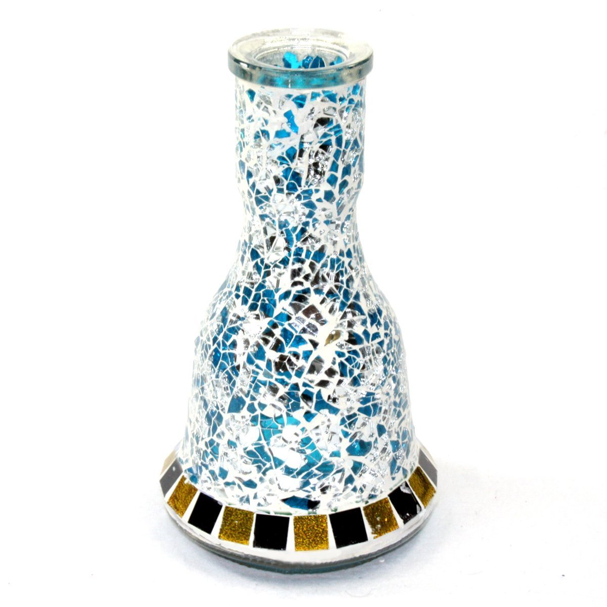 GStar Deluxe Series: 20'' 2 Hose Hookah Complete Set w/ Travel Case - Mosaic Tile Art Glass Vase - Pick Your Color (Blue w/ Case) by GSTAR Hookah (Image #2)