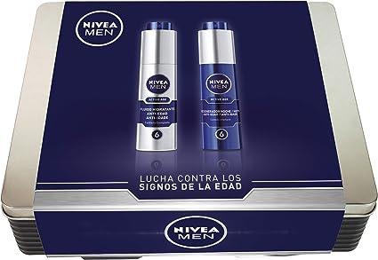 NIVEA MEN Lata Active Age con 2 cremas de día y noche, caja de ...