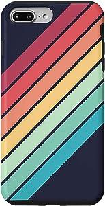 iPhone 7 Plus/8 Plus Colorful Rainbow Color 70s Style Retro Stripes Case