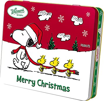 whitmans snoopy merry christmas tin - Snoopy Merry Christmas Images