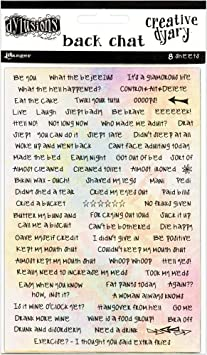 Ranger White Dylusions /'BIGGER BACK CHAT STICKERS/' SET 2-8 sheets