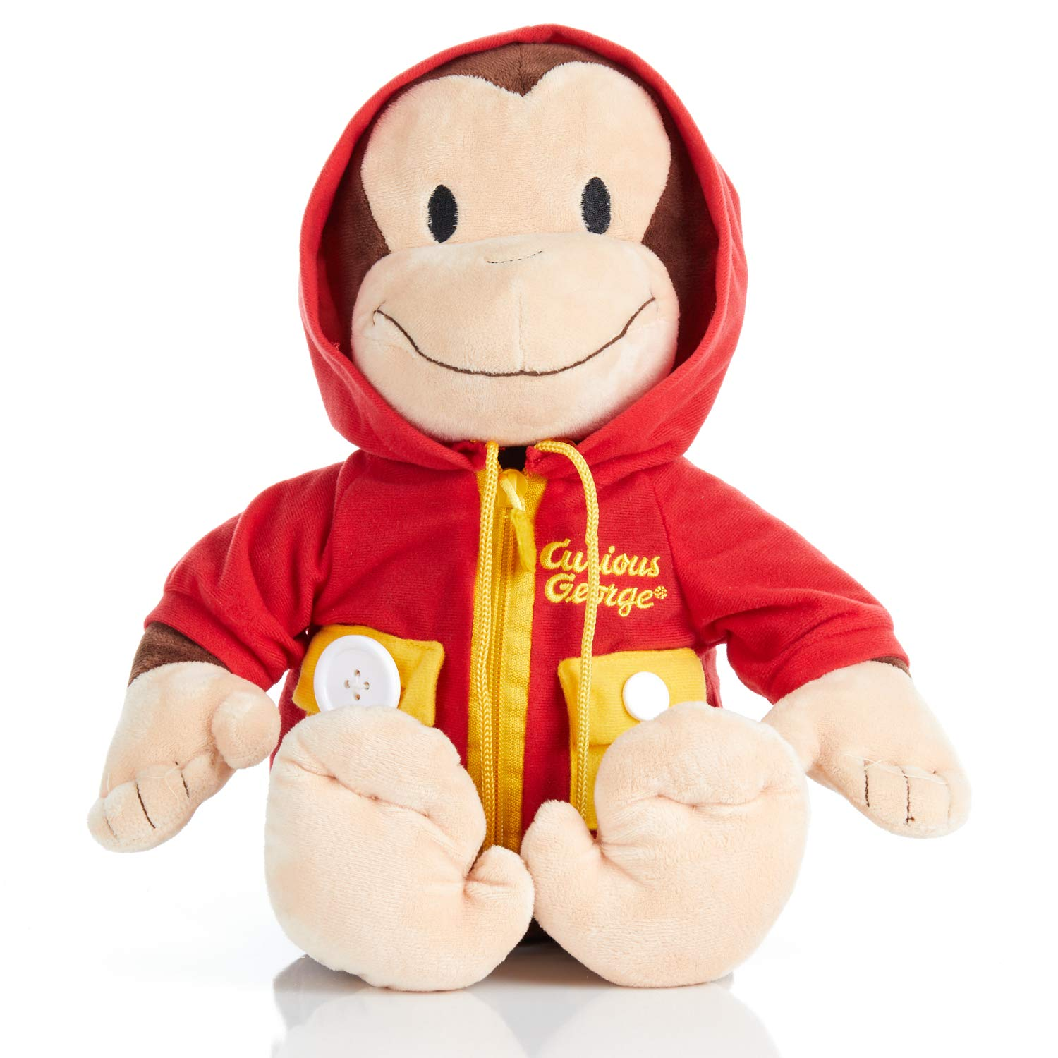 KIDS PREFERRED Curious George Learn to Dress Stuffed Animal