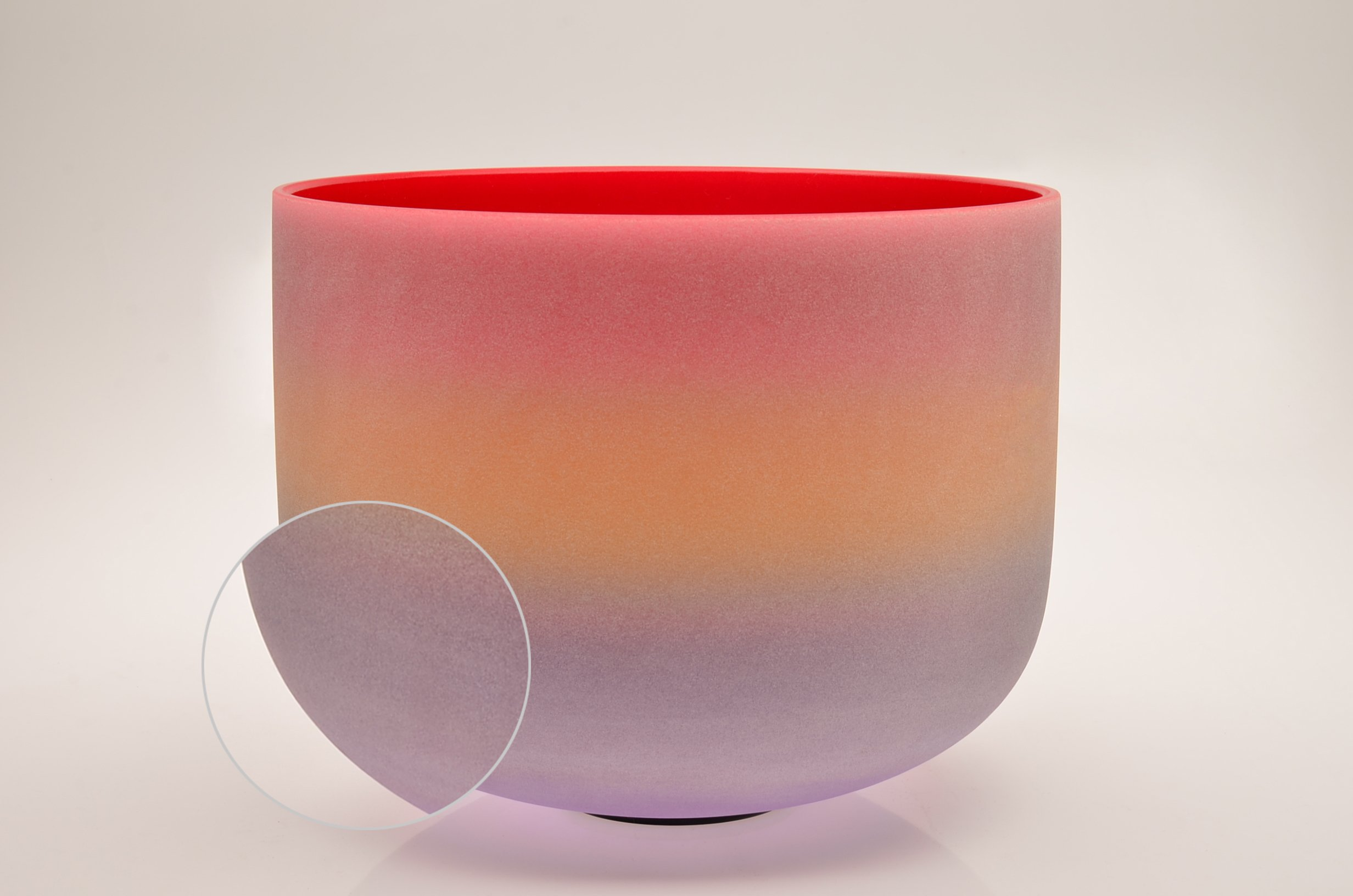 TOPFUND Singing Bowls C Note Crystal Singing Bowl Root Chakra Rainbow Color 12 inch (O-Ring and Rubber Mallet Included) by TOPFUND (Image #4)