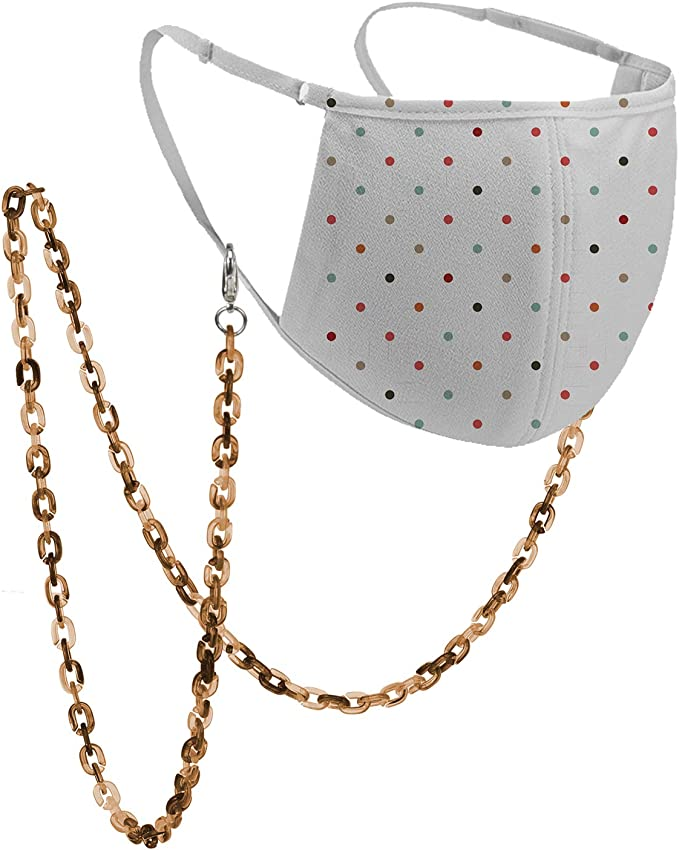 MAEGHAN face mask necklace 23 Adult sizeFace Mask Holder Face Mask Beaded Chain